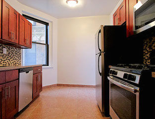 apt for rent with fully renovated kitchen