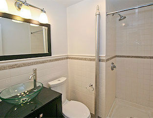 Apartment rental with all new bath
